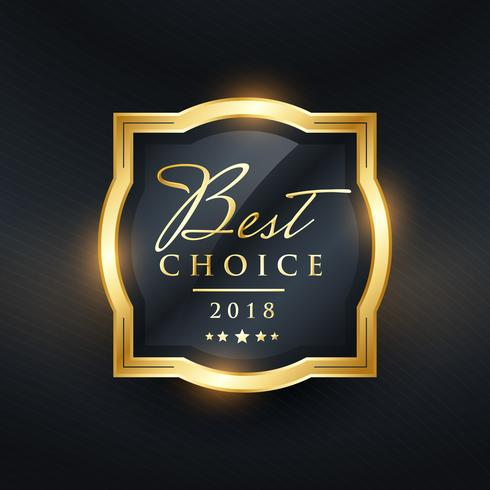best choice premium award label design