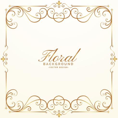 elegant floral background design vector
