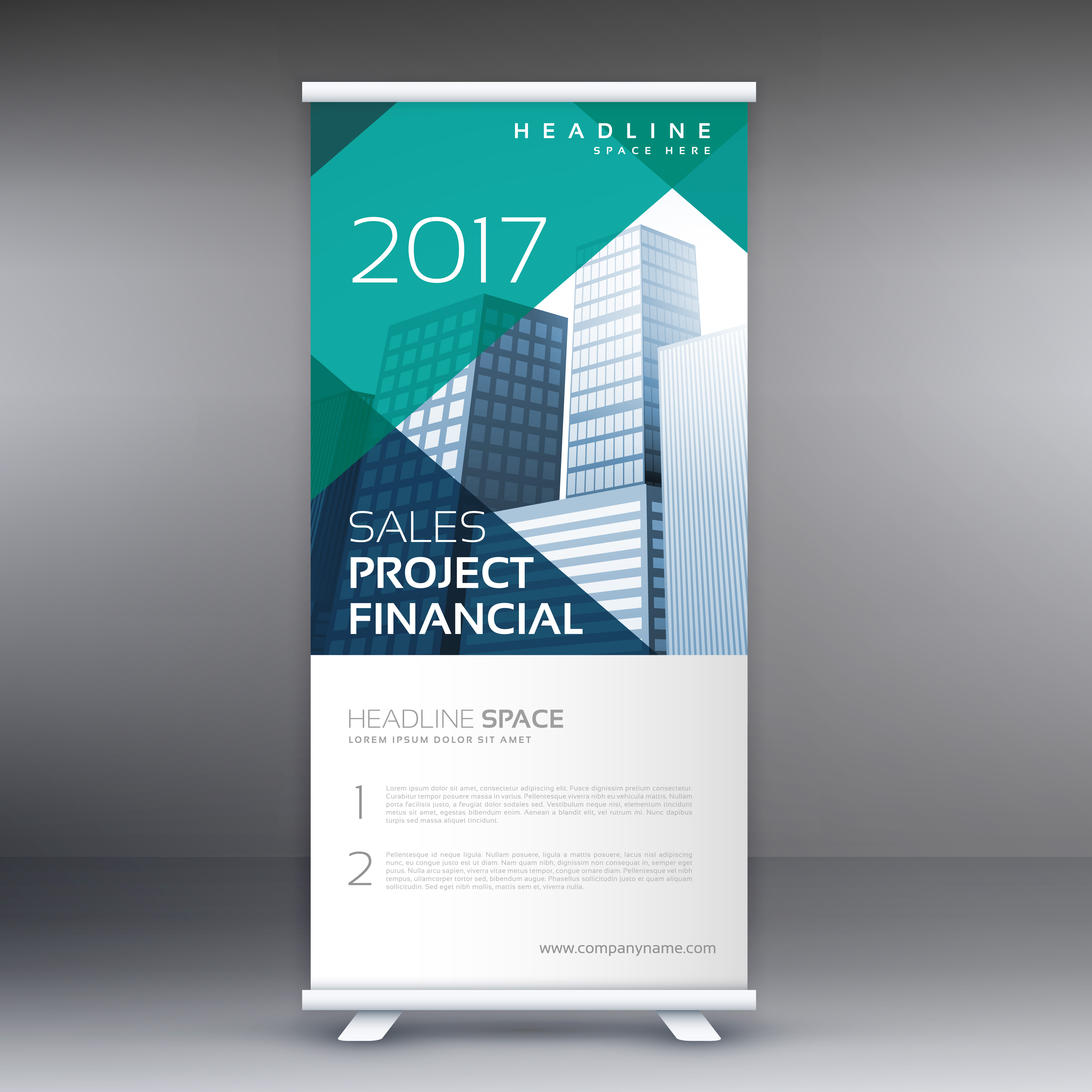 Geometric Roll Up Banner Template Download Free Vector