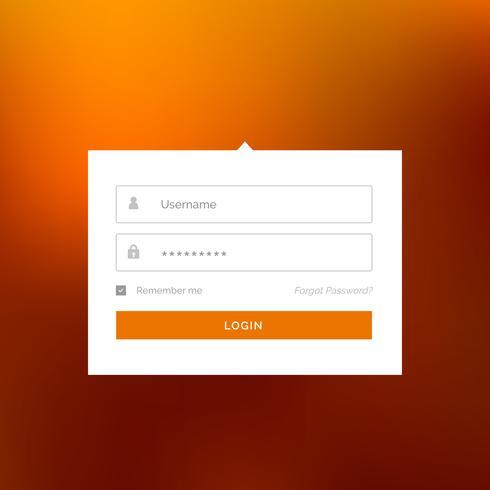 modern vit inloggning användargränssnitt form design vektor mall