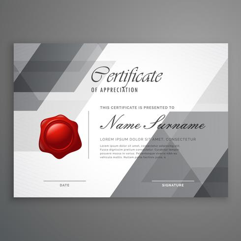 abstract geometric shape certificate design template