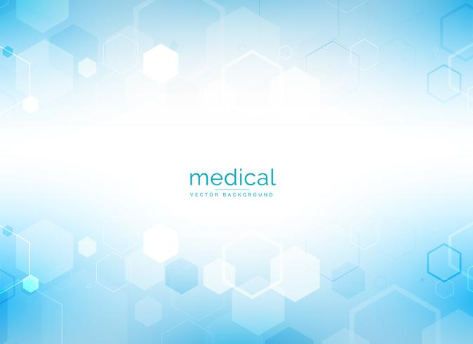 healthcare and medical background with hexagonal geometric shape