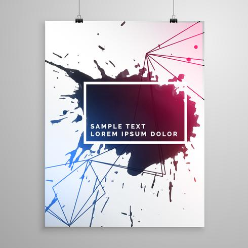 abstract ink drop flyer poster template