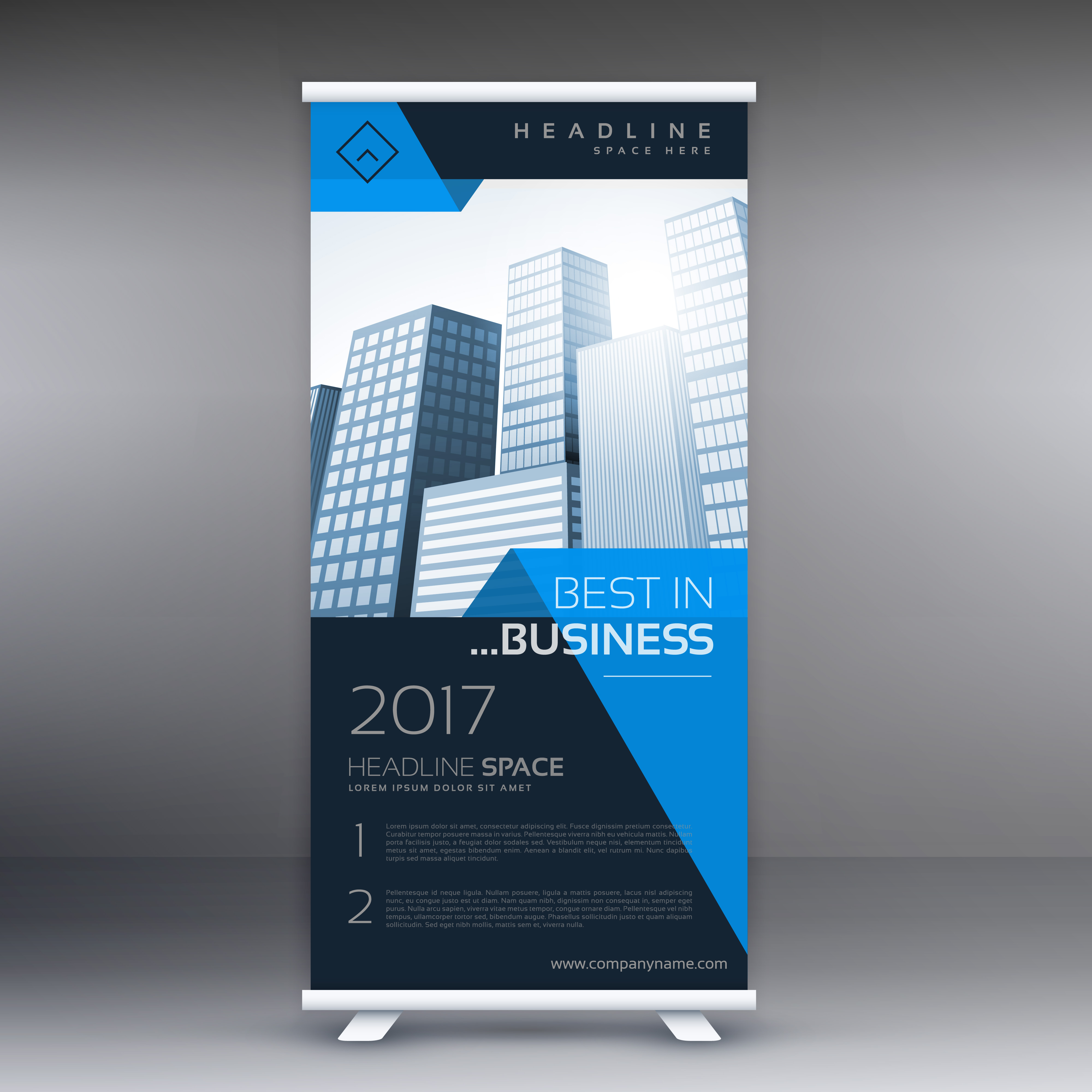 Company Roll Up Banner Display Download Free Vector Art