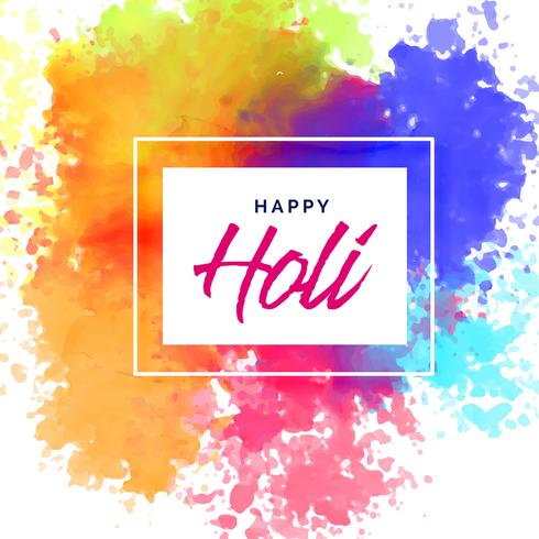 happy holi poster design with colorful stains