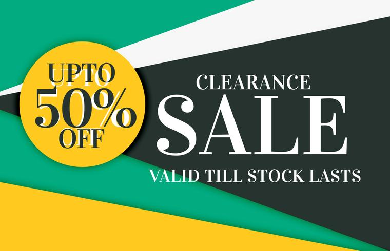 modern sale and discount card banner design with offer details