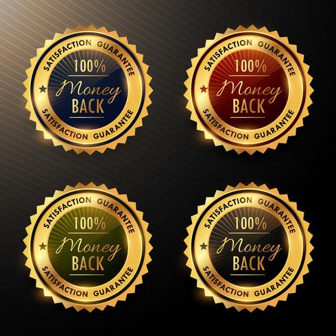 money back guarantee badges set collection