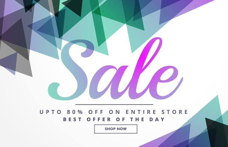 abstract geometric sale banner design template for promotion ...