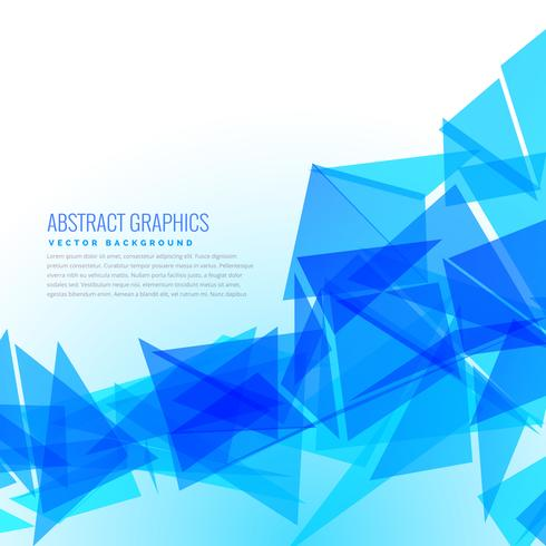 abstract blue triangles vector design background