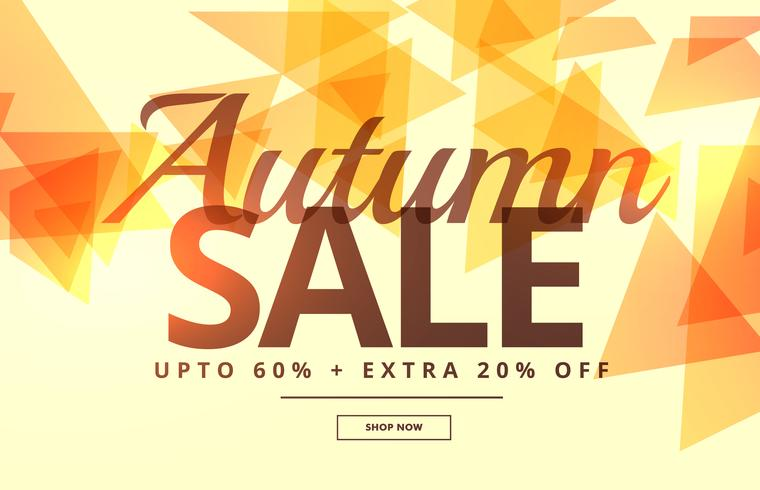 seasonal autumn sale banner poster template design