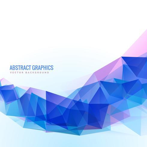 forme ondulée bleue abstraite faite de triangles