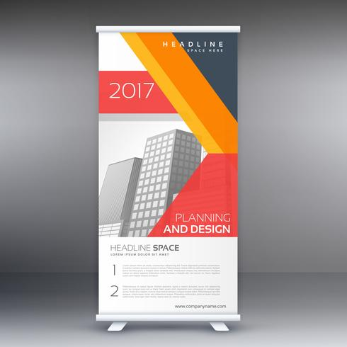 modern professional standee design with abstract geometric shape