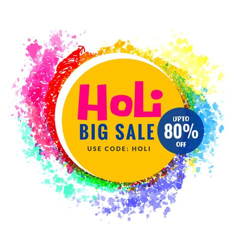 happy holi colors sale design