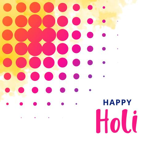 happy holi greeting design background