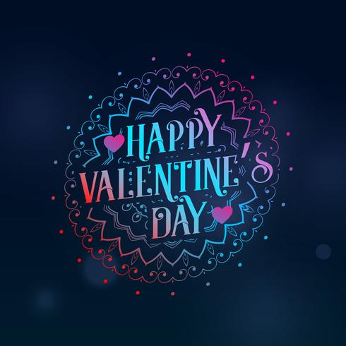 creative happy valentine's day greeting with decorative design