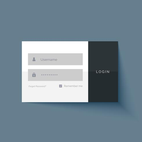 minimal login user interface form design
