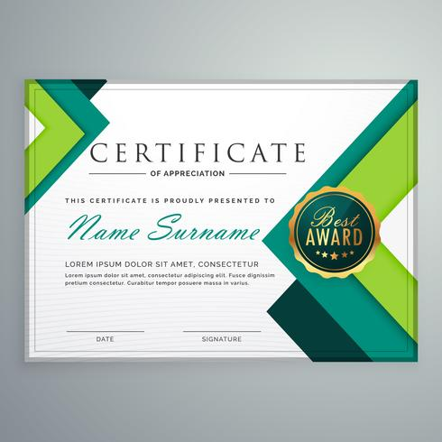 modern geometric shape certificate design template