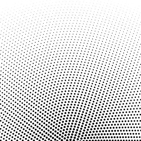 circular halftone dots vector background