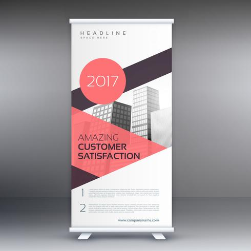 roll up banner in pink geometric shapes