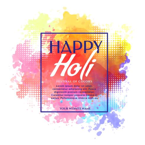 happy holi banner design invitation template