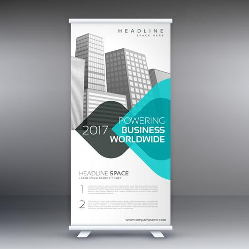modern trendy standee roll up banner design template