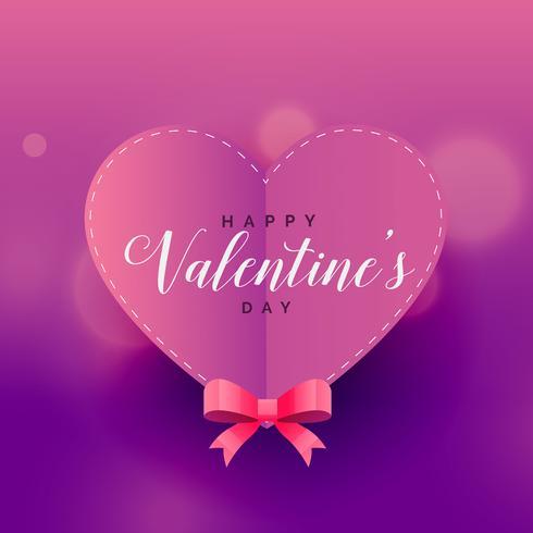origami purple valentine's day heart love background