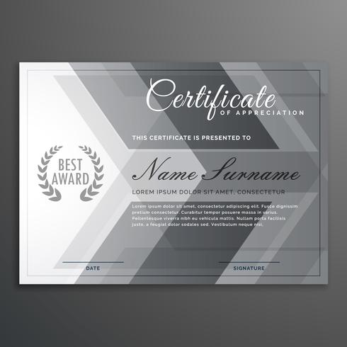 elegant gray certificate design diploma template