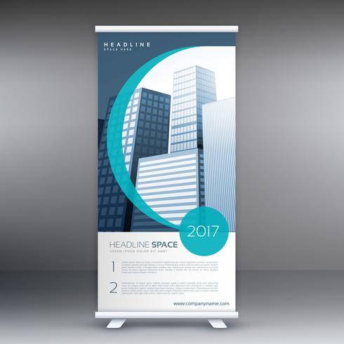 company roll up banner design presentation template