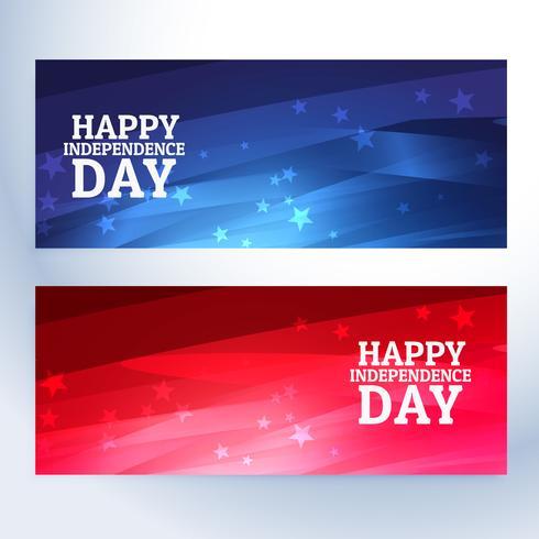 gelukkige dag van de onafhankelijkheid banners