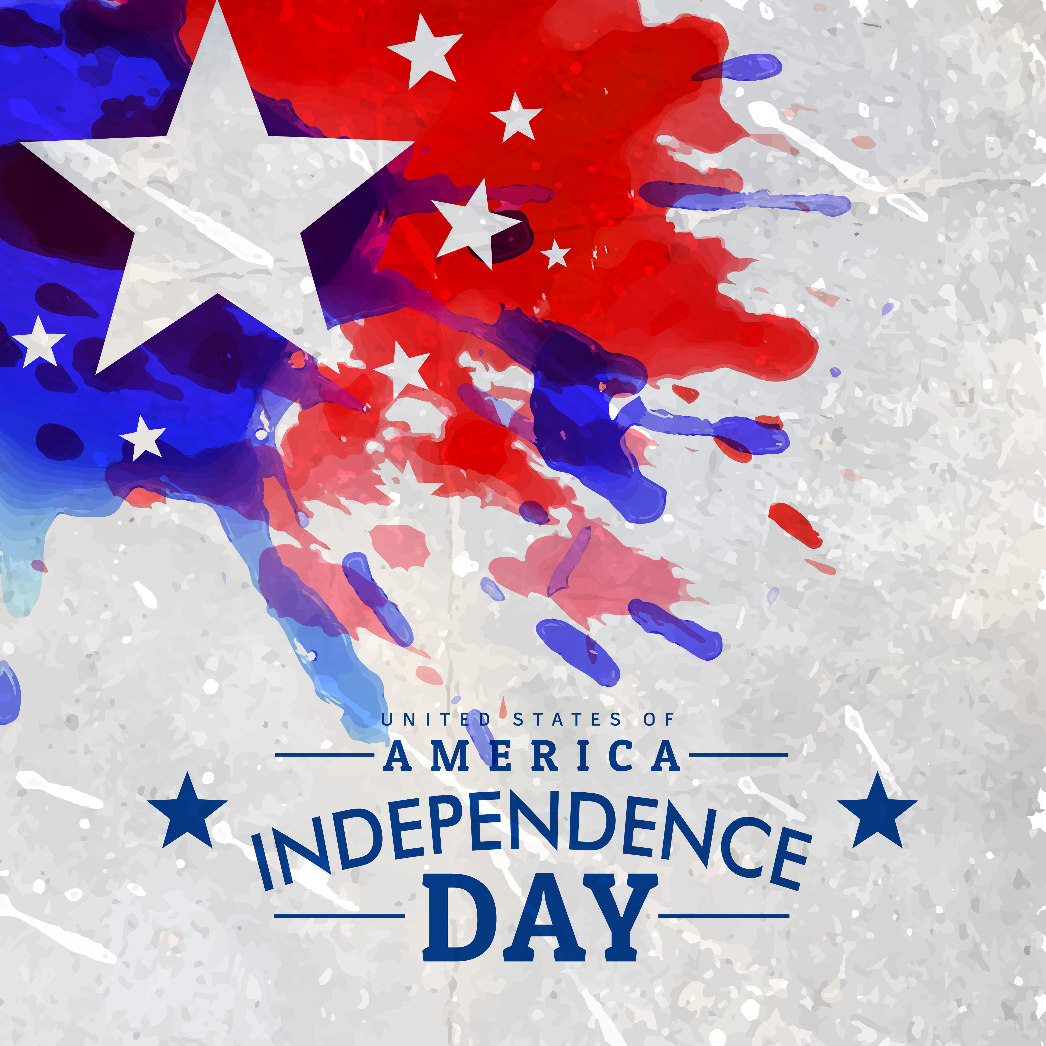Independence Day: Grunge Style American Independence Day Background