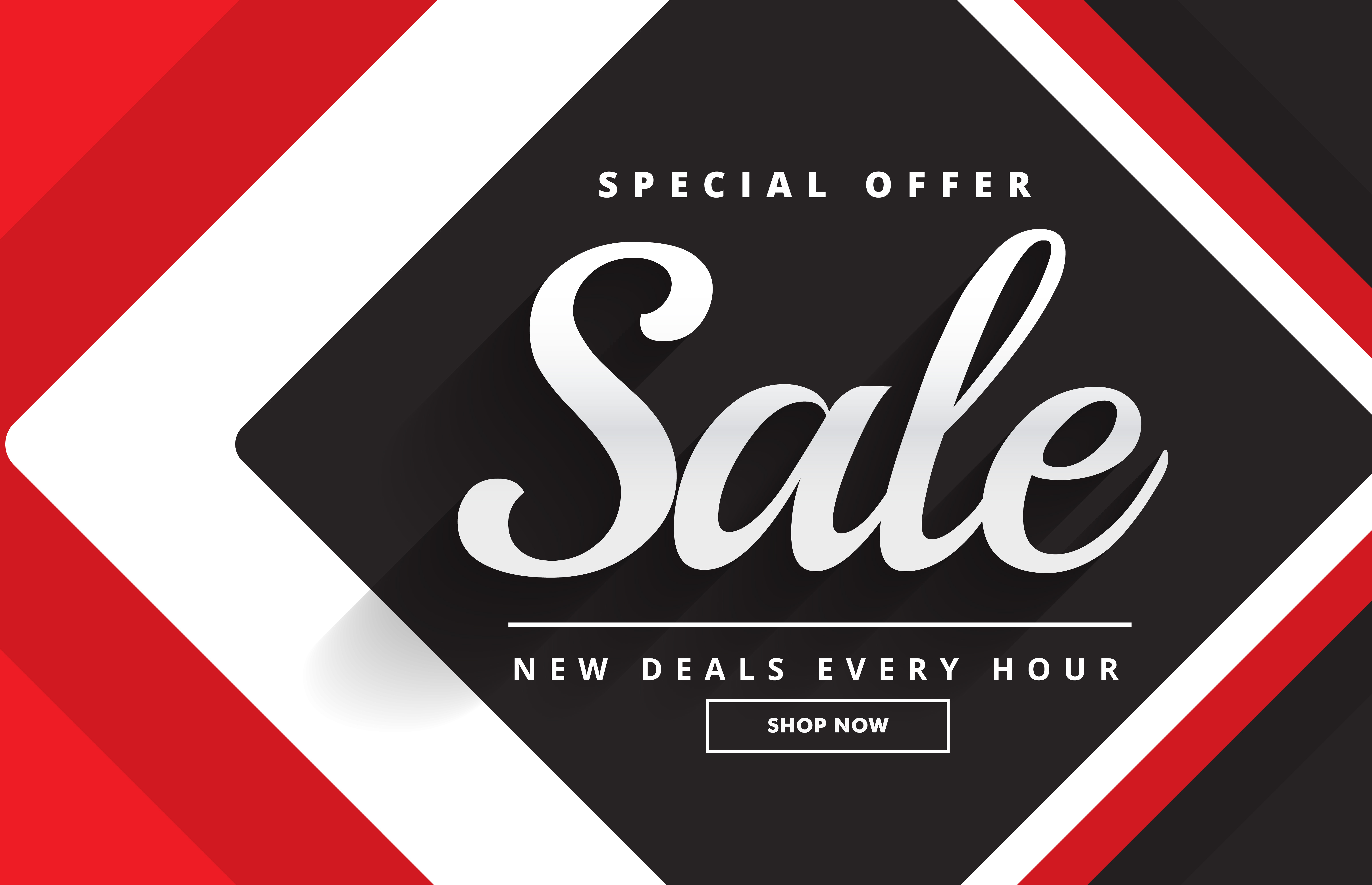 red black awesome sale banner template design for promotion - Download Free Vector Art, Stock ...