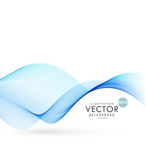 blue smooth wave background illustration