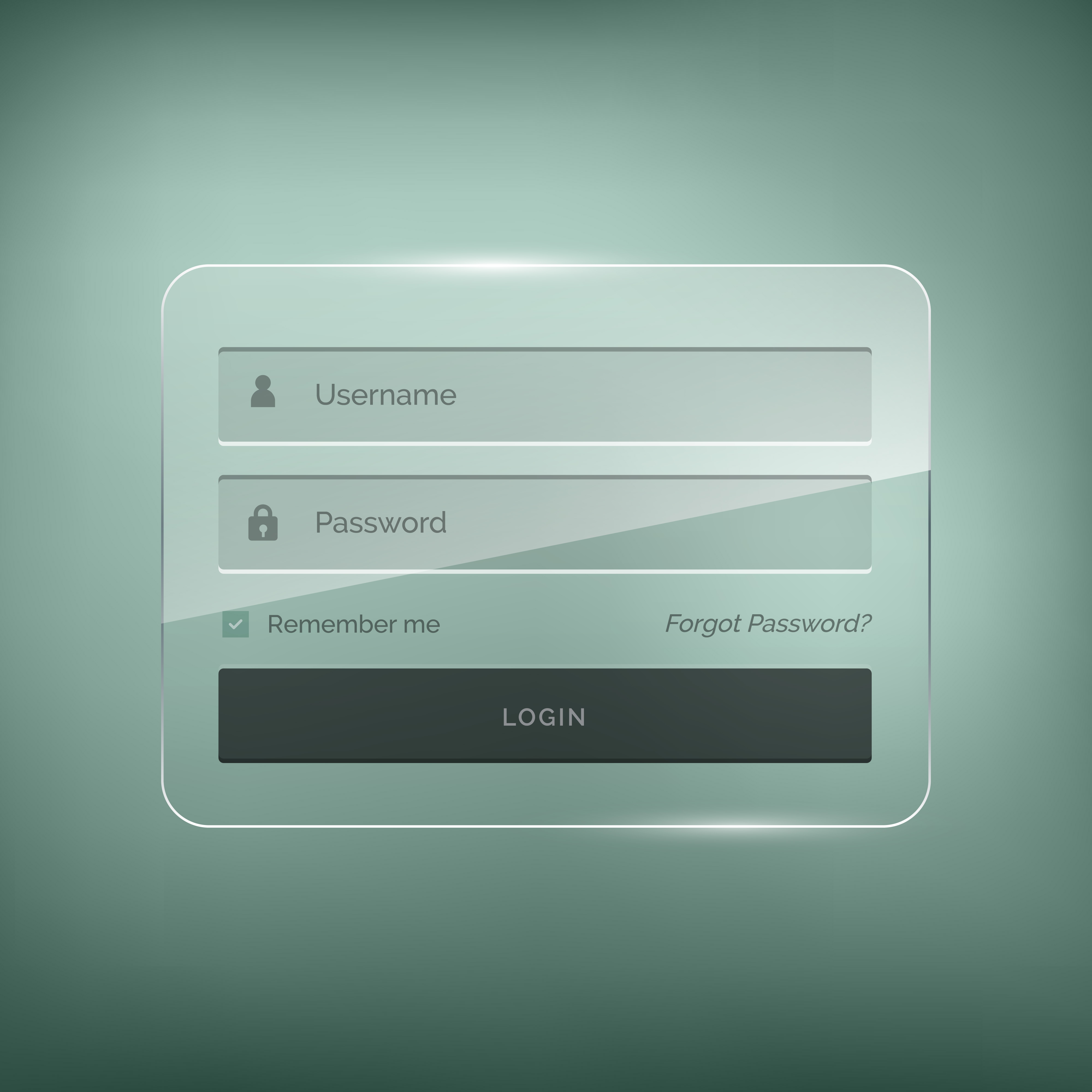 Glossy Stylish Login Form Design With Username And