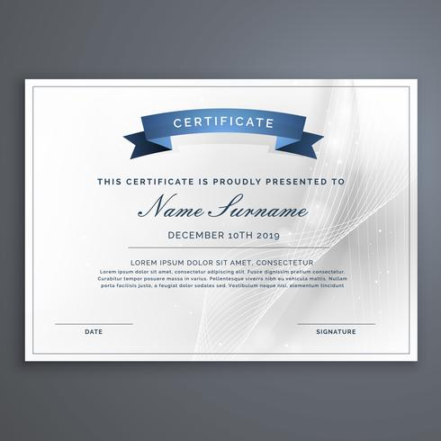 clean and modern diploma certificate template