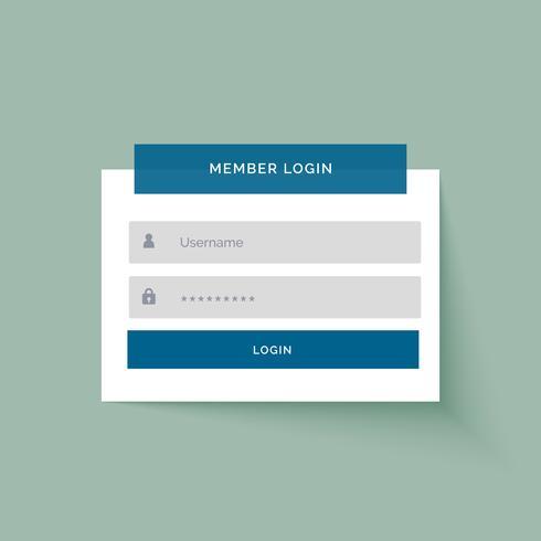 flat sticker style medlem inloggning användargränssnitt design