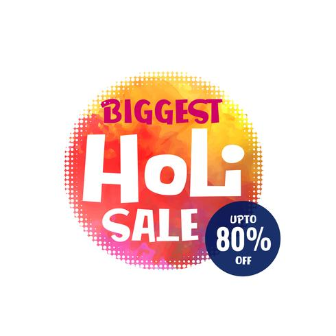 happy holi festival sale design