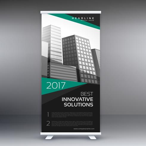 modern roll up banner design for business presentation
