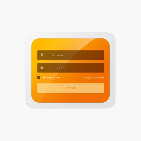stylish login form in yellow theme for website and mobile applic