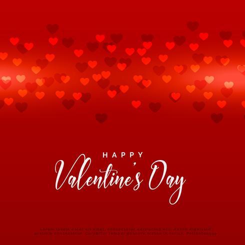 rote Valentinstagherz-Hintergrundauslegung
