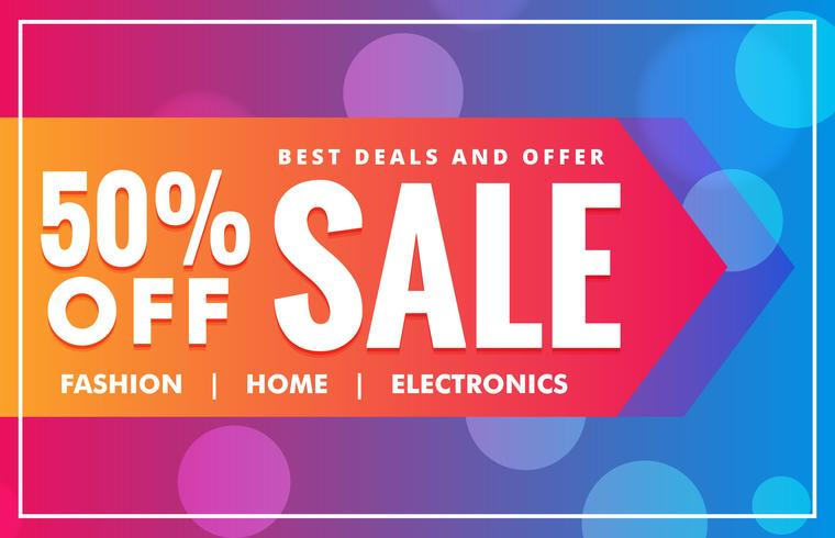 sale banner background in vibrant color style