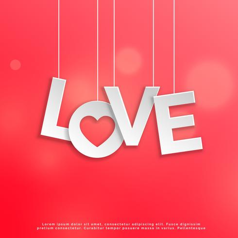Red love background card design