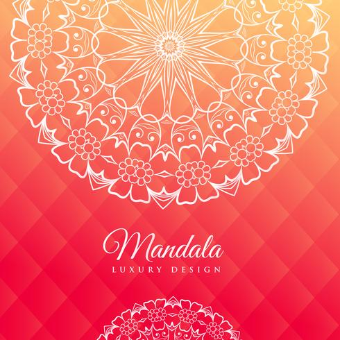 bright pink background with mandala art