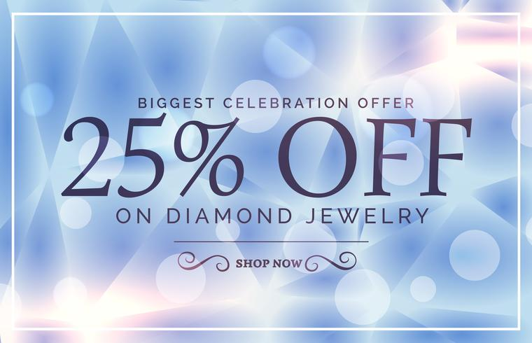 luxury style sale poster design for jewelry brand