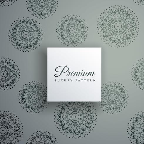 elegant decorative ethnic pattern vector background