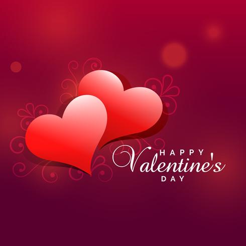 lovely valentine's day heart background design