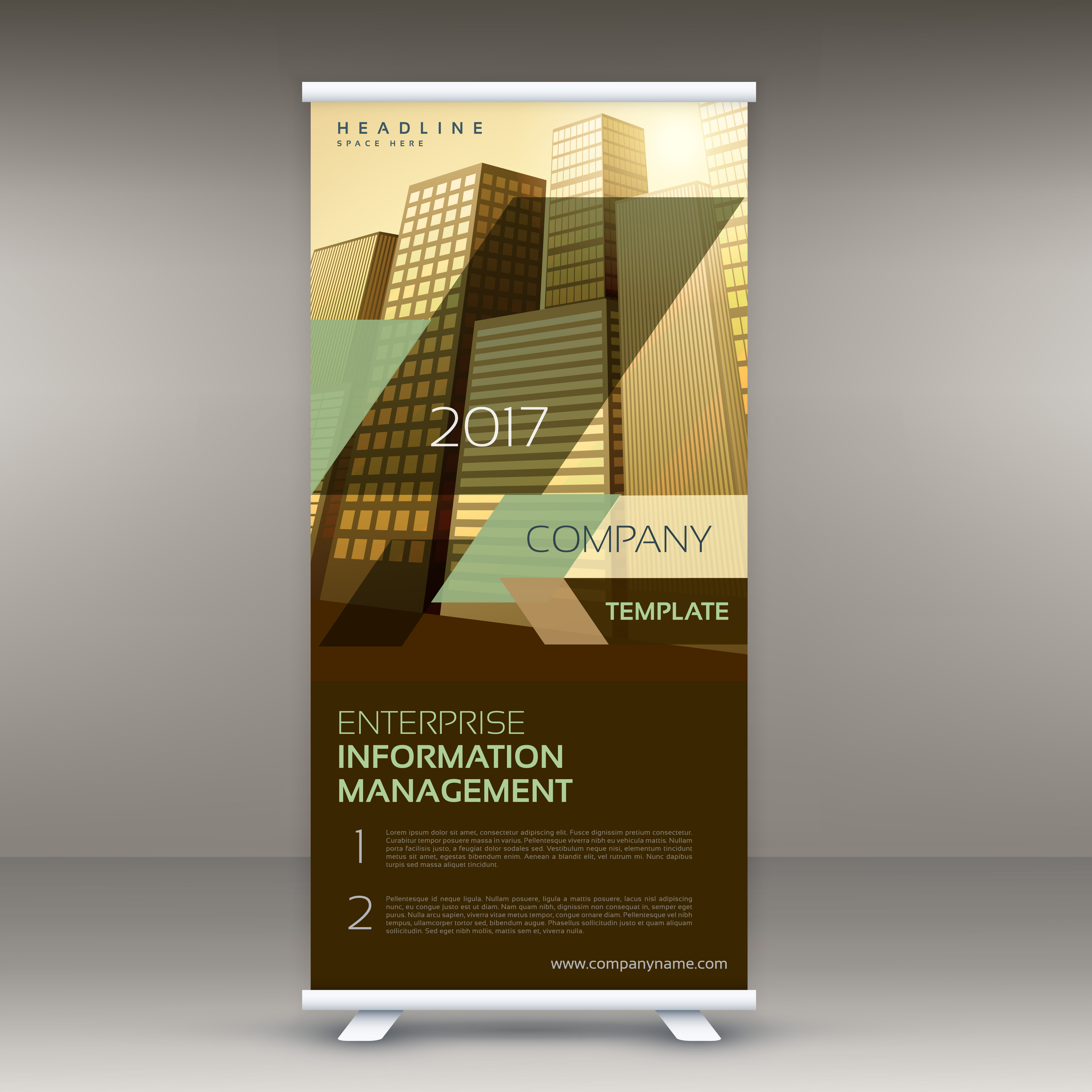modern standee roll up banner design template for your