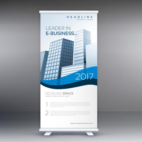 clean modern roll up banner template for your business