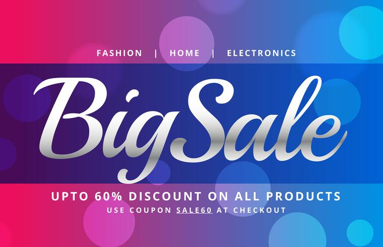 beautiful sale banner poster vector design template with bokeh b
