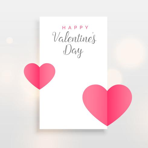 fond de conception de carte minimale Saint Valentin