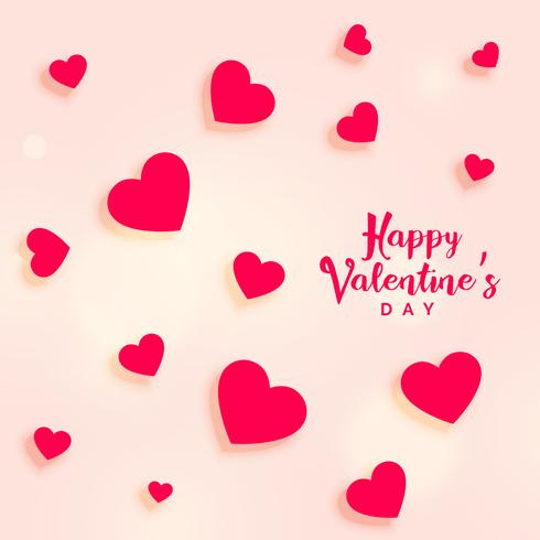 lovely hearts background for valentine's day